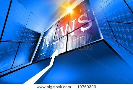 Modern Digital World News Background