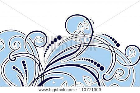 Winter background. Snow blizzard swirl. Vector illustration.