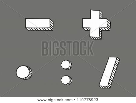 Hand drawn vector icon isolated on grey background