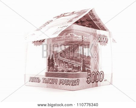 Five Thousand Russian Ruble Apartment, Rouble Banknote Isolated, White Background