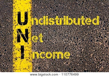 Accounting Business Acronym Uni Undistributed Net Income