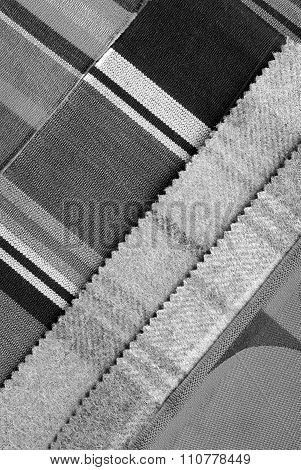grey color fabric design selection