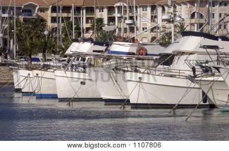 boats marina port harbour south of france poster
