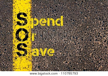 Accounting Business Acronym Sos Spend Or Save