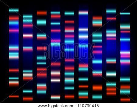 colourful medical dna results with black background poster