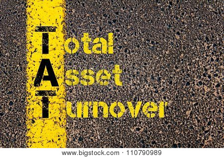Accounting Business Acronym Tat Total Asset Turnover