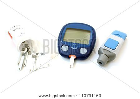 The Glucometer And Test Strips
