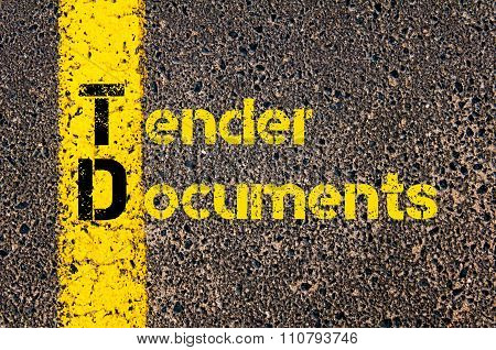 Accounting Business Acronym Td Tender Documents