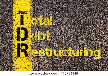 Accounting Business Acronym Tdr Total Debt Restructuring