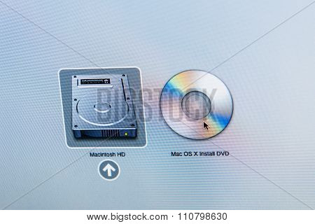 Macintosh Hard Disk Icon Next To Dvd Mac Os X Install Dvd