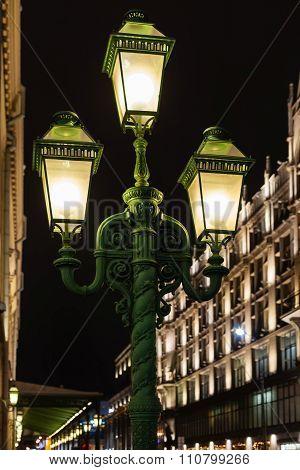 Street Lantern On Moscow Street In Night