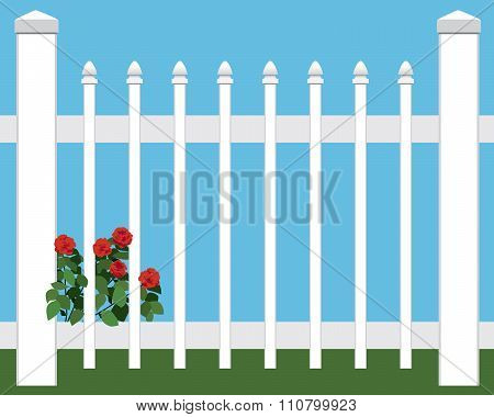 Flowers in Picket Fence