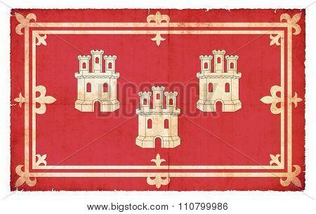 Grunge Flag Of Aberdeen (scotland)