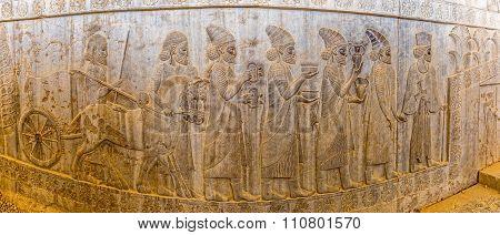 Relief in Persepolis panoramic