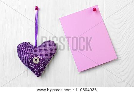 Fabric Heart Holyday