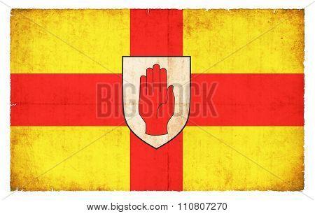 Grunge Flag Of Ulster (ireland)
