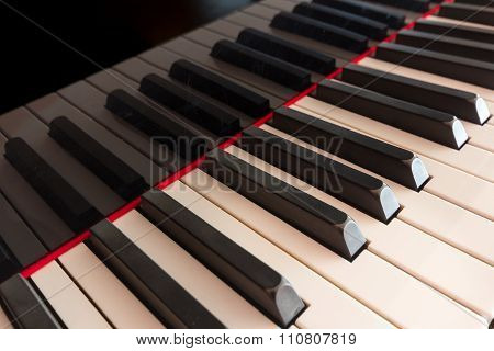 Piano Keyboard Closeup  - Piano Keys