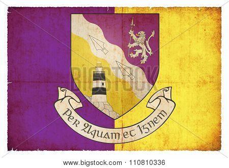 Grunge Flag Of Wexford (ireland)
