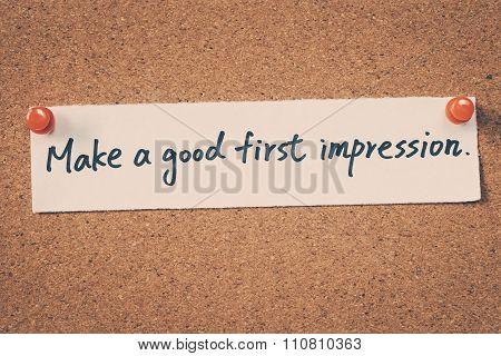 Make A Good First Impression