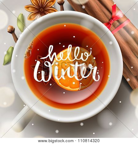 hello winter, Christmas tea with spices