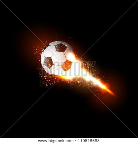 Soccer ball light design easy all editable