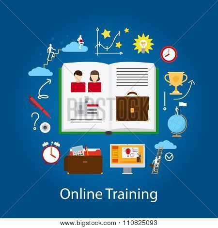 Online Education and Webinar Concept