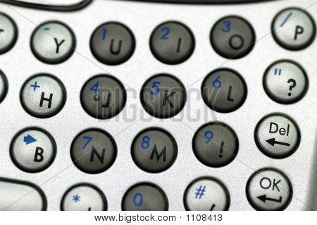 Number Keypad Closeup