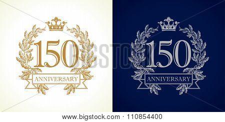 150 anniversary luxury logo.