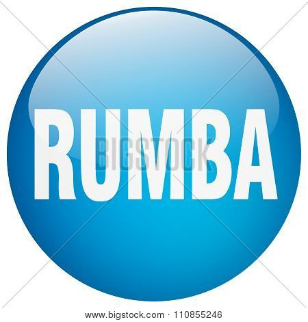 Rumba Blue Round Gel Isolated Push Button