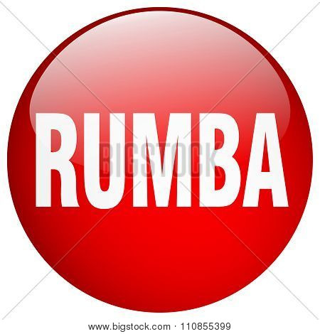 Rumba Red Round Gel Isolated Push Button