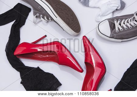 High Heels And Sneakers