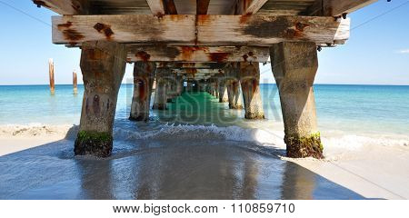 Indian Ocean View: Under the Jetty