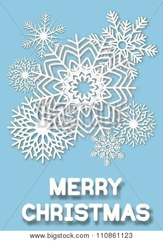 Christmas greeting card snoflakes.