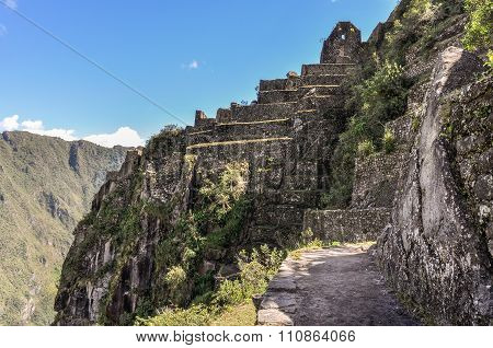 Temple Ruin On Wayna Picchu At Machu Picchu,  Peru