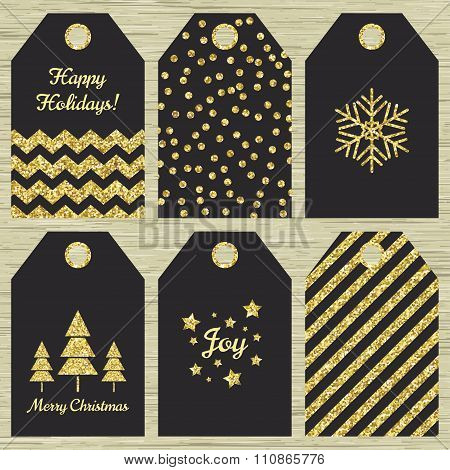 Collection Of Six  Christmas Gift Tags.