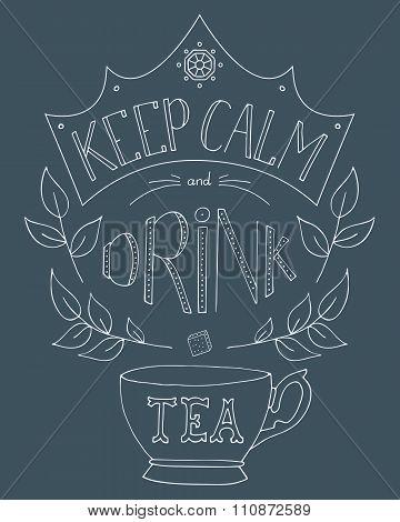 Hand Drawn Keep Calm And Drink Tea