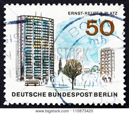Postage Stamp Germany 1965 Ernst Reuter Square, Berlin