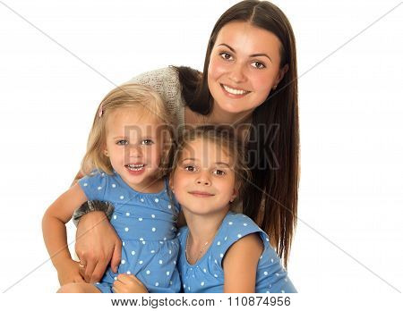 Mother and two daughters