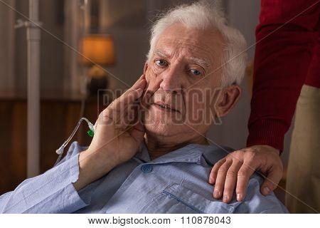 Elderly Man Suffering From Dementia