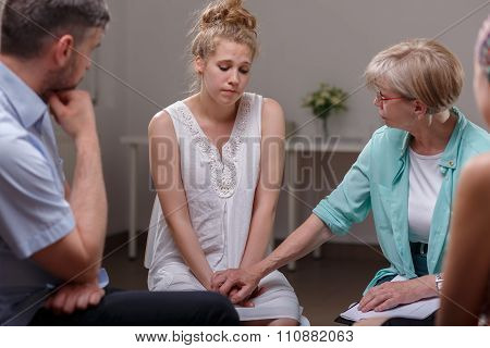 Domestic Violence Victim On Therapy