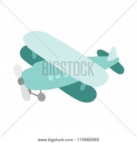 Air plane cartoon toy vector illustration