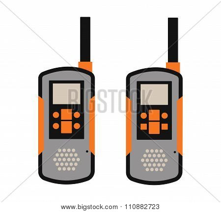 Portable radio transmitter on a white background vector illustration
