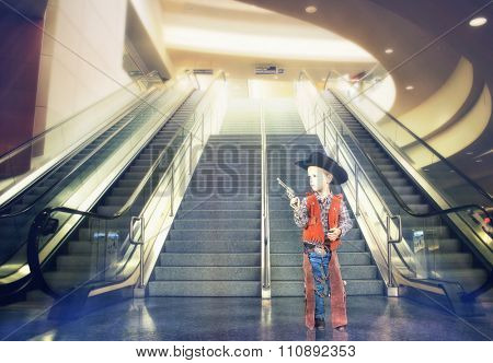 image from indoors and people background series (stairs and an escalator at an airport)