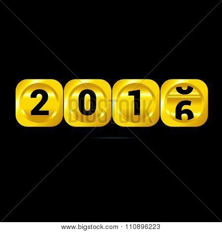 Counter 2016 Gold Vector