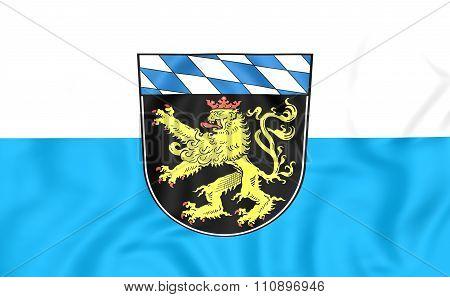 Flag Of Upper Bavaria Region, Germany.