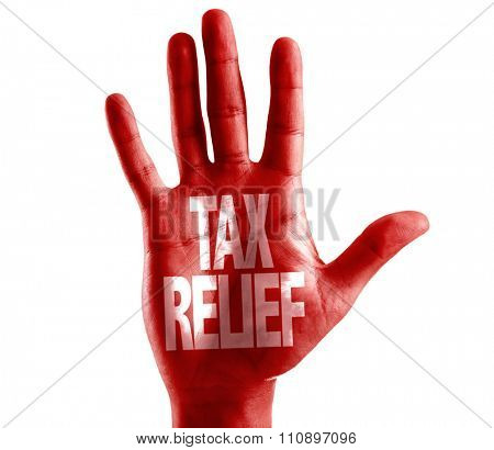 Tax Relief written on hand isolated on white background