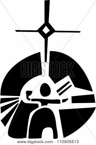 Symbol Of Sami Sun Diety