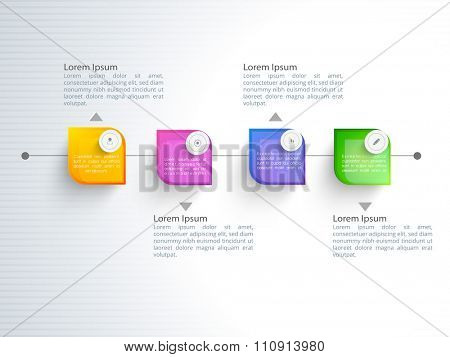 Creative Business Infographic layout with icons for your professional presentation.