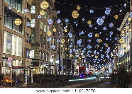 Oxford Street Christmas Lights In London