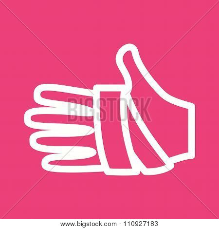 Hand, bandage, injury icon vector image. Can also be used for healthcare and science. Suitable for use on web apps, mobile apps and print media. poster